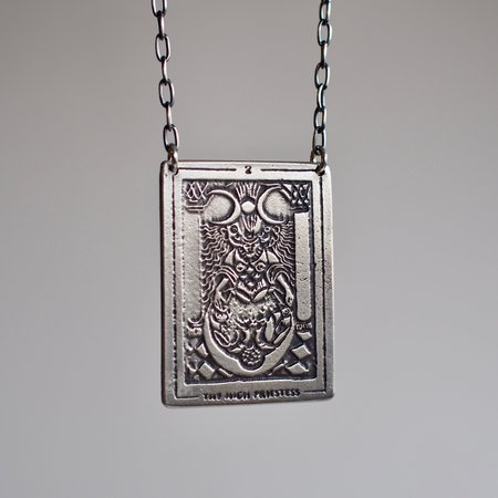 Acid Queen Jewelry Tarot Card Pendant Necklace - The High Priestess