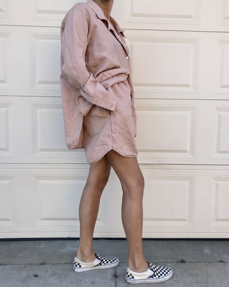 DEIJI STUDIOS Linen Loungewear Set 06 - clay pink