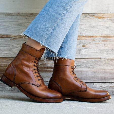 Sutro Footwear Mendelle Lace Up Boot - Honey