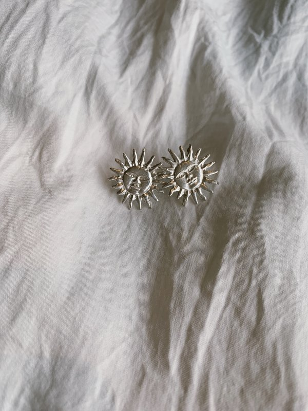 BEFORE MARCH Sun Studs - Silver