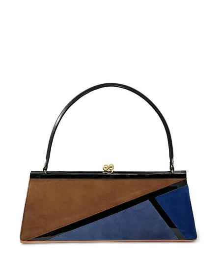 Daniele Ancarani Handbag - Blue/Brown/Black