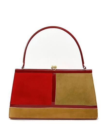 Daniele Ancarani Colorblock Handbag - Red