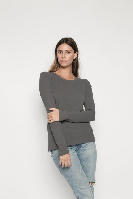 Christina Lehr Thermal Tee - Pigment Charcoal
