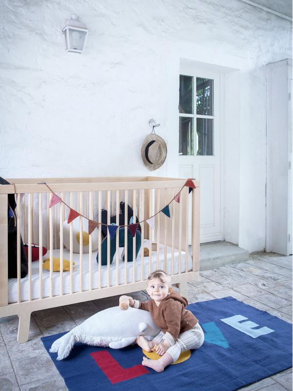 Kids Oeuf Love Rug - Blue