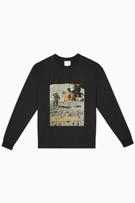 Calvin Klein Moon Landings Ls Tee - Black Beauty