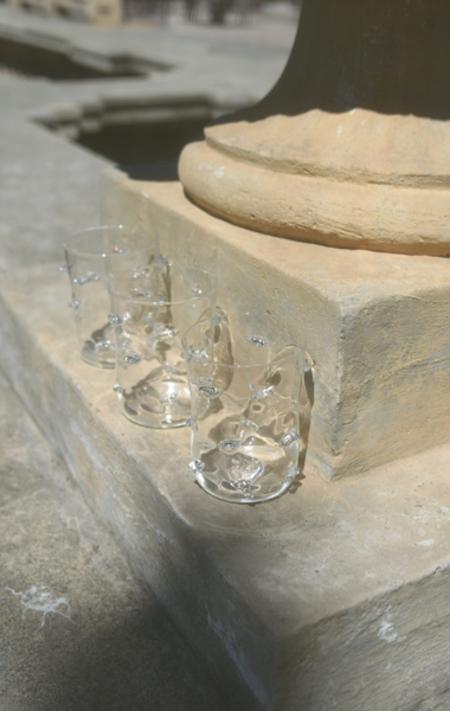 Cristaseya Murano Glass - Transparent Mushrooms