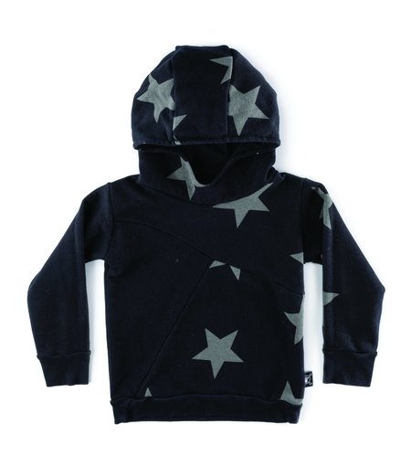 Kids Nununu Divided Star Hoodie - Black