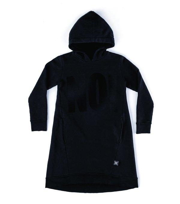 Kids Nununu Hooded A Dress - Black