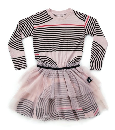Kids Nununu Spiral Tulle Dress - Powder Pink