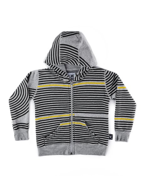 Kids Nununu Spiral Zip Hoodie - Heather Grey