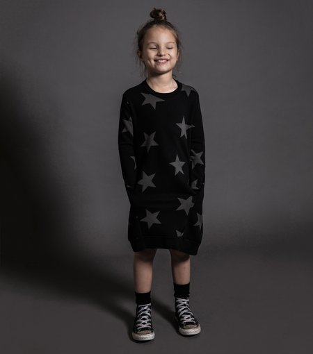 Kids Nununu Star A Dress - Black