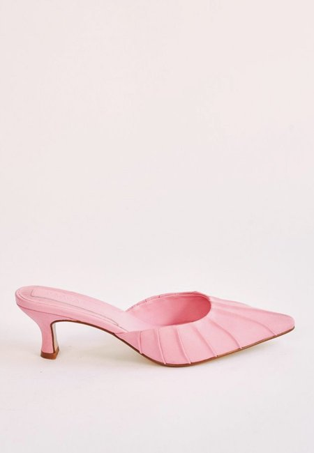 Jaggar Ruched Kitten Heel - candy pink