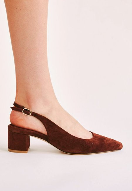 Jaggar Solace Slingback Pump - chocolate suede