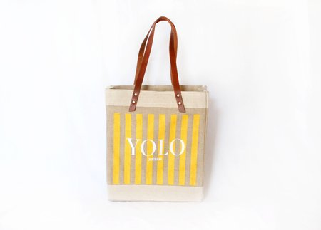 Yolo Journal + Apolis For Alchemy Works Striped Long Handle Tote
