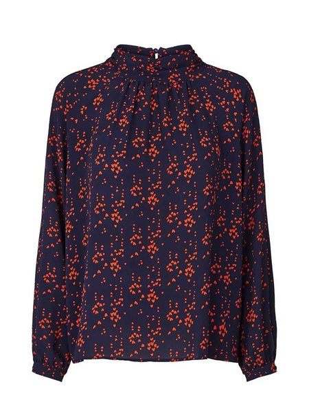 Lolly's Laundry Honda Blouse - Dark Navy