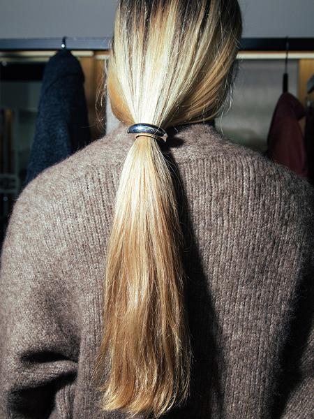 Saskia Diez Bold Hair Tie - Silver
