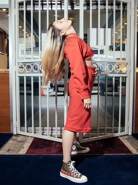 Alexa Stark Midnight Street Shorts - Red
