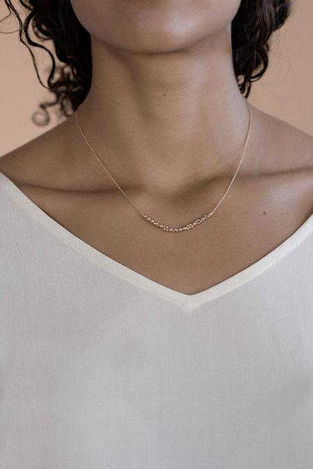 Abacus Row Columba Necklace - 14k Gold Filled