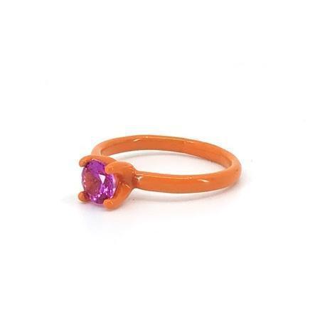 Funhouse Labs Ring - Orange/Dark Pink