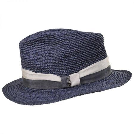 Brooklyn Hat Co. Matteo Raffia Hat - Blue