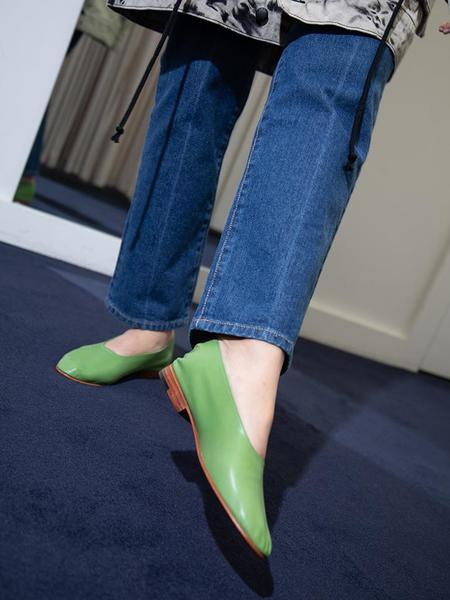 Martiniano Glove Flats - Apple Green