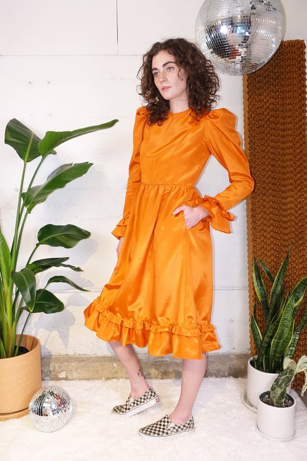 BATSHEVA Collarless Prairie Dress