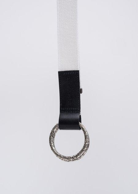 Christian Dada Black KARAKUSA Ring Belt - White/Grey