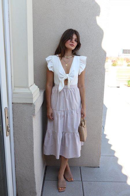 English Factory Midi Dress - Ivory/Gingham