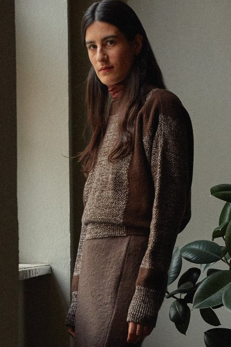 frisur elin lambswool jumper - melange coffee