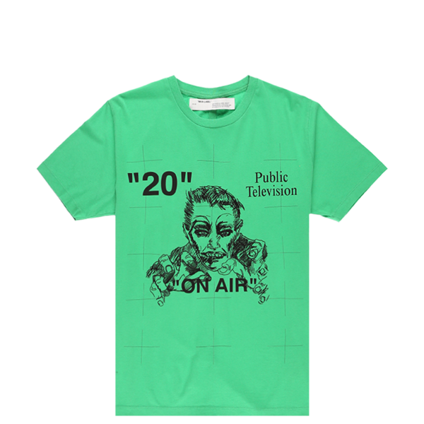 Off White Mirko Artist Slim T Shirt green on Garmentory