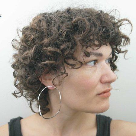 AOKO SU Big Waves Earrings - Silver