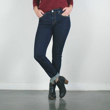 Father's Daughter LA Hanna Mid Rise Skinny Jeans - Indigo