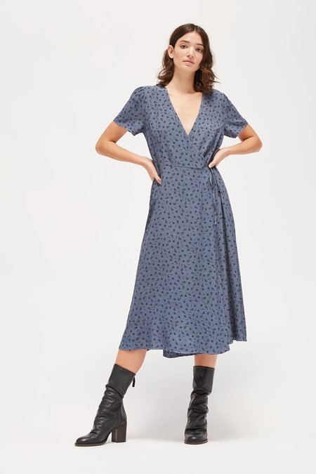 Lacausa Georgette Tallulah Dress - Steel