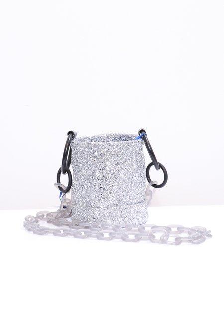 Simon Miller S801 Bonsai Bag w/ Linked Strap - Silver