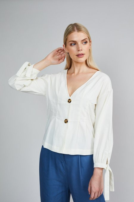 Native Youth The Lydia Blouse - Cream