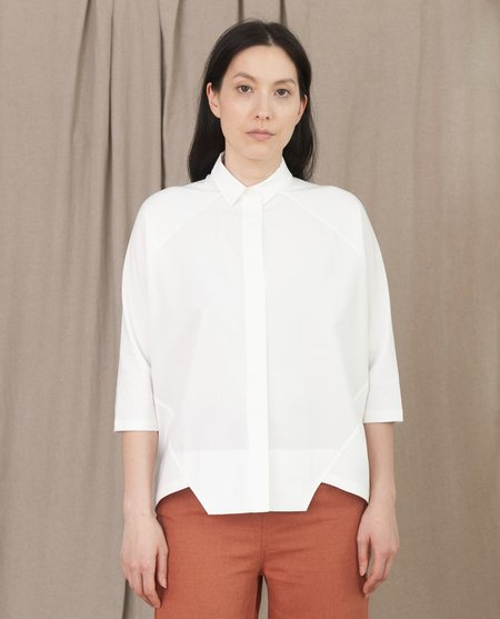 beaumont organic Terry organic cotton shirt - off white