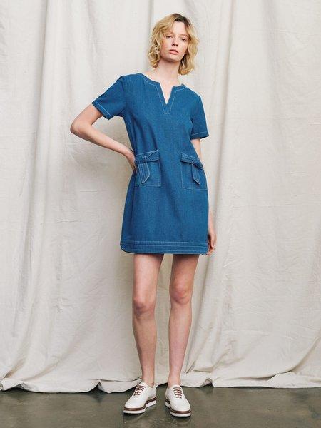 Ryder Luca Denim Shift Dress - Blue