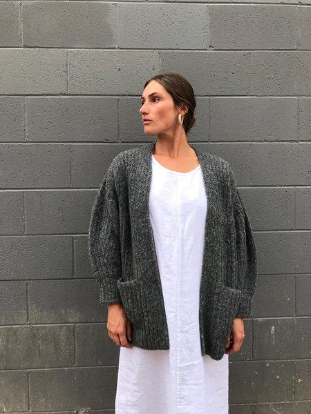 Bare Knitwear Marine Cardigan - Charcoal