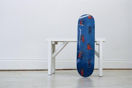Skateboard Cafe Dance All Over Deck - Blue