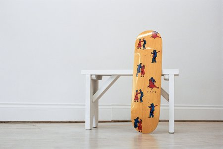Skateboard Cafe Dance All Over Deck - Yellow