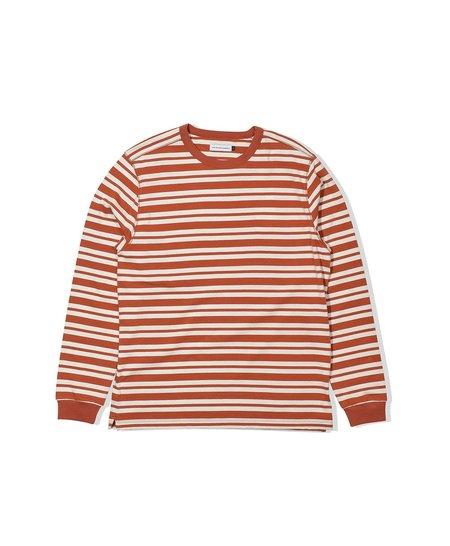 Pop Trading Company Gabe Stripe Longsleeve - Amber/Offwhite