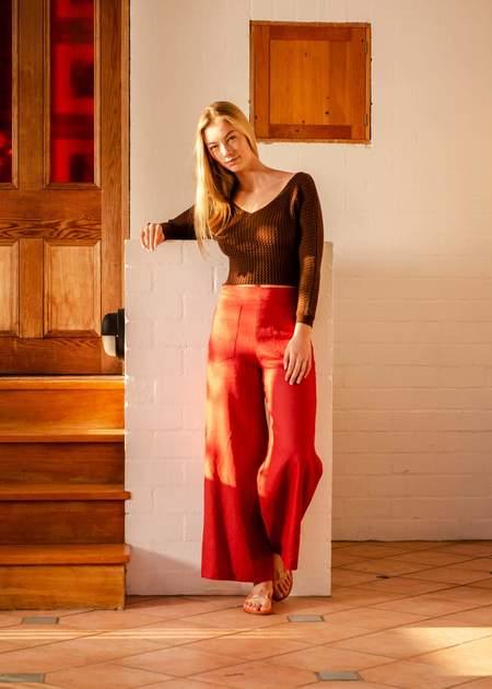 Penny Sage Flaneur trouser - brick
