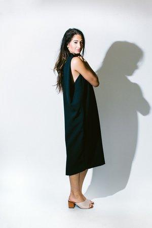 KAAREM dill high collar dress