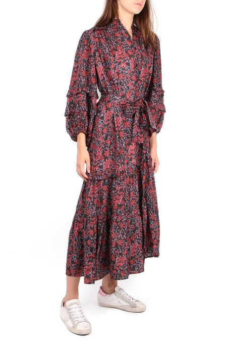 Apiece Apart Gracia Flamenca Dress - Potpourri Black