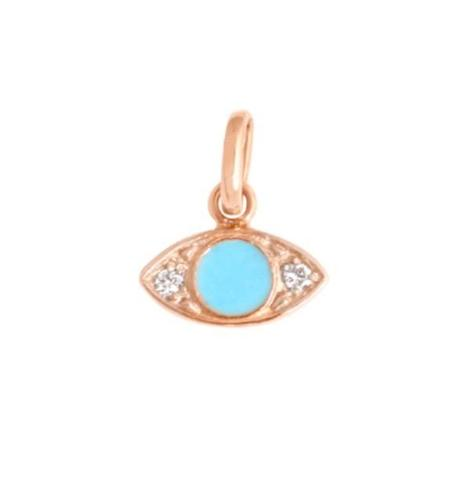 Gigi Clozeau Eye pendant - Turquoise/Yellow Gold