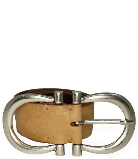 Post & Co Leather Vintage Belt - Camel