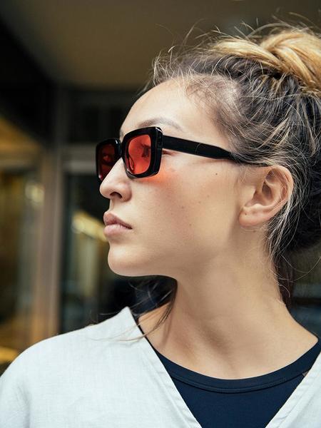 Chimi Laser Frames - Solid Black/Red