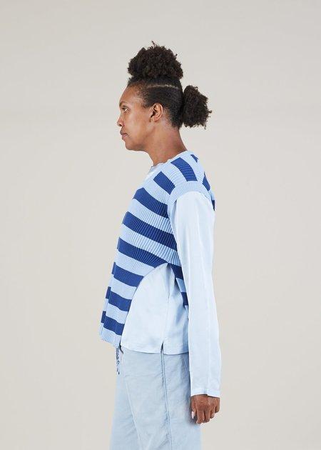 The Gigi Gala Knit Vest - Blue/Sky Stripe