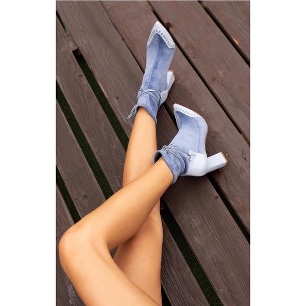 Jessica Bédard Star Ankle Boot   Sky Blue by Garmentory