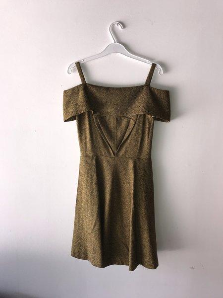 Eliza Faulkner Off-Shoulder Tweed Dress